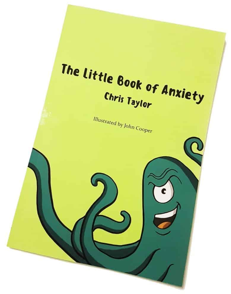The front cover of the little book of anxiety  which shows octopus