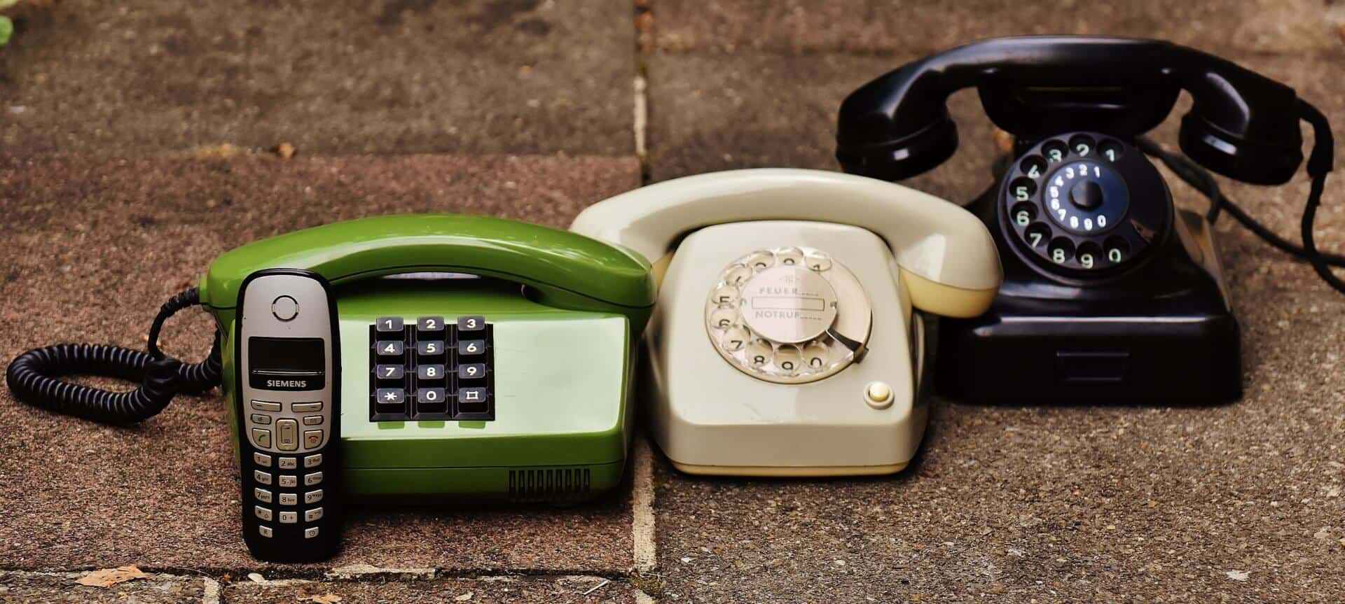 A set of telephones