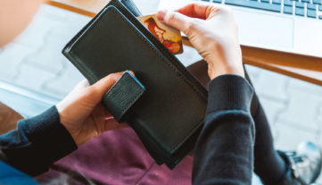 Credit card removed from purse